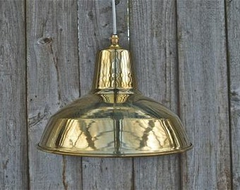 A superb solid brass ceiling shade BFSG3