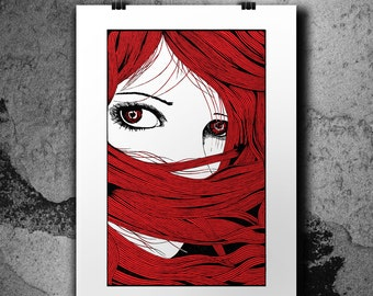 Amanda - 2 Colors Handpulled Silkscreen Poster