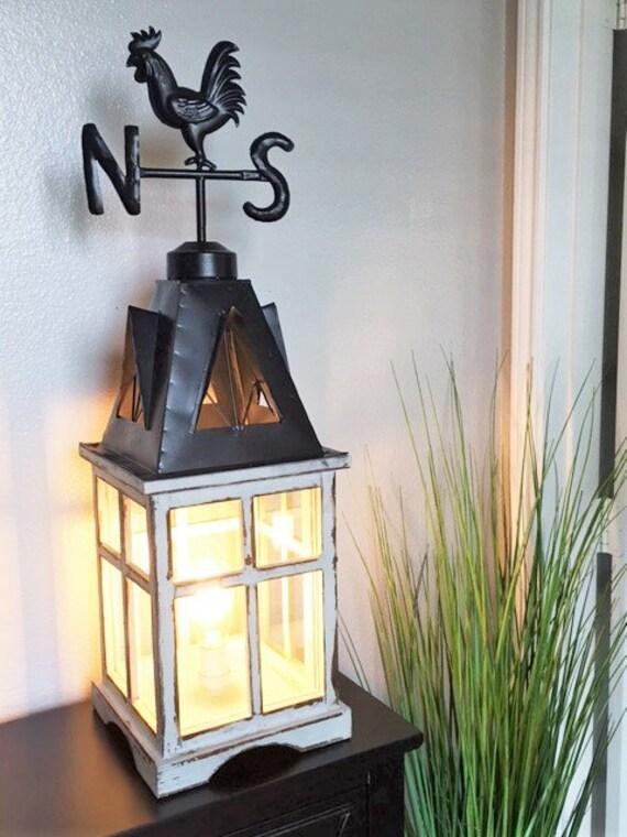 Farmhouse Lantern Table Lamp Lighting Lamp Edison Light