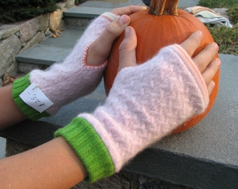 Cashmere Arm Warmers - Fingerless Gloves