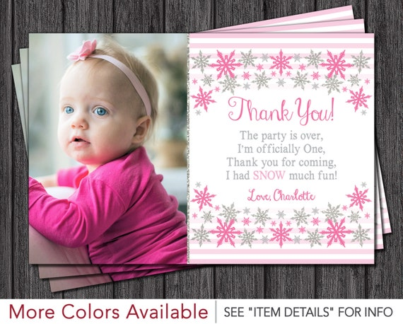 Winter onederland thank you card personalized first birthday thank il570xn bookmarktalkfo Image collections