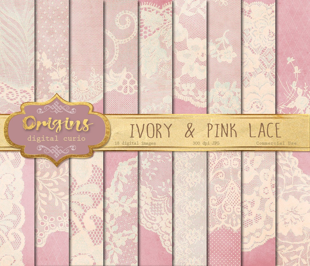 Scrapbook paper lace - This Is A Digital File
