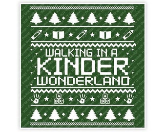 Walking In A Kinder Wonderland, Ugly Sweater, Merry Christmas Digital, Download, TShirt, Cut File, SVG, Iron on, Transfer