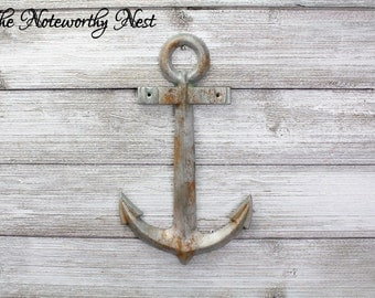 Large Anchor Wall Decor rustic large metal wall anchornauticalanchor decorboat