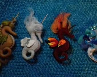 Four Elements Seahorse Unicorns- Full Set