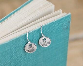 Silver Dandelion Seed Earrings - Fine Silver Dandelion Earrings - Silver Dandelion Charm - Dandelion Charm Earrings - Fine Silver Earrings
