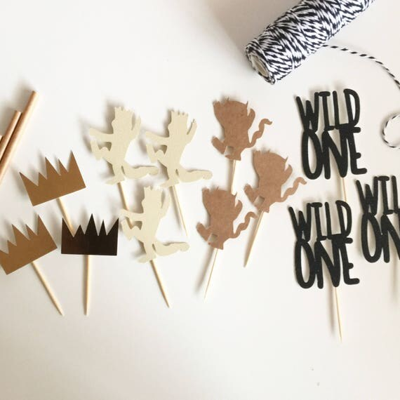 Where the Wild Things Are Party Cupcake Toppers   Where the Wild Things Are Topper   Wild One Topper   Wild One Party