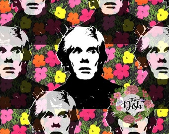 Andy Warhol Pop Art Printable, Andy Warhol Decor, Wall Art, Andy Warhol Print, Pop Art Print, Digital Print, Andy Warhol Art, Pop Art