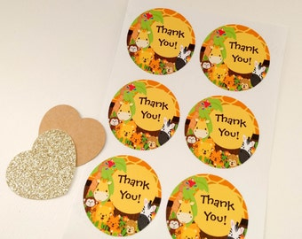 Thank You Stickers - Babyshower, birthday - Favours, envelope seals, gift tag, giftwrapping, card making