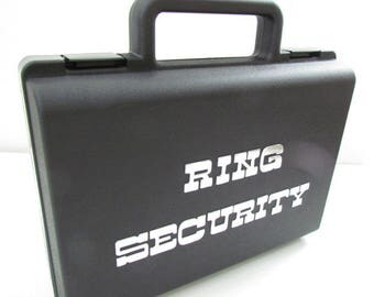 alternative wedding ring box briefcase for ring bearer box ring security briefcase wedding box silver foil letters