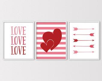 ON SALE! Valentine Prints, Love Printables, Valentines Decor, Valentines Day Printables, Heart Printable, Arrow Print, Instant Download
