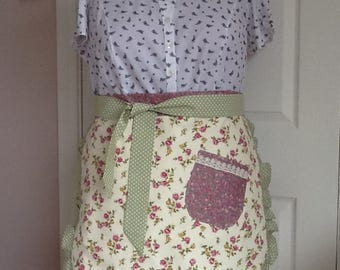 Half apron/ retro style/fully lined