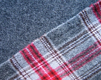 Double Faced Italian Wool Fabric By The Yard, Wool Coating, Plaid Wool