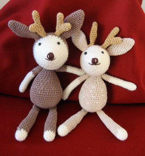 Rudy the Reindeer. Rudy Crochet Amigurumi. Handmade Crochet