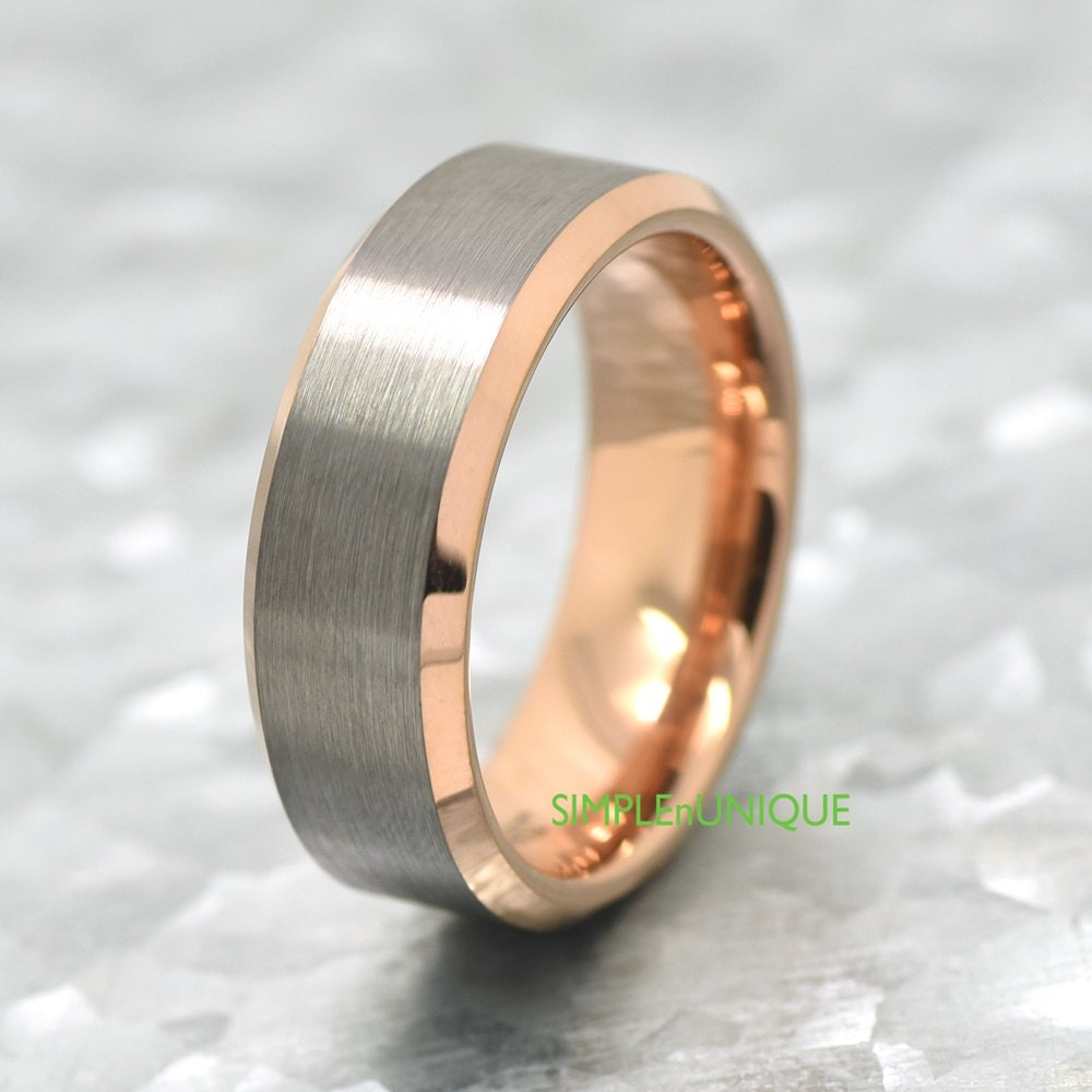 Tungsten Wedding Rings: Tungsten Wedding Bands For Men Rose Gold Wedding Ring