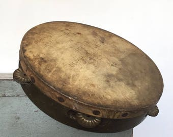 Vintage 1940s Army Tambourine