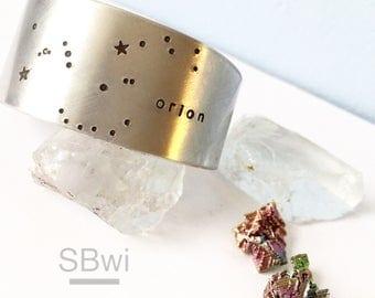 Orion cuff bracelet in aluminum
