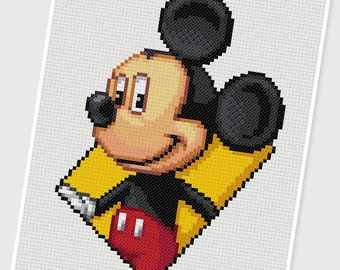 PDF Cross Stitch pattern - 0043.Micky - INSTANT DOWNLOAD