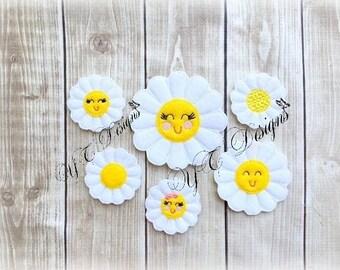 Daisy Feltie Sweet Smiling Daisy Feltie Embroidery File