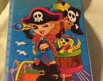 Lisa Frank Sticker Book NIP! Collectible pirate girl w/ 100 stickers inside