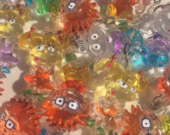 90's Rugrats earrings transparent rave cyber vintage Grunge kawaii