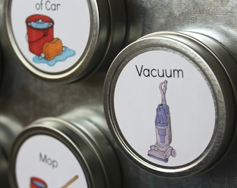 20 Additional Changeable Chore Magnets