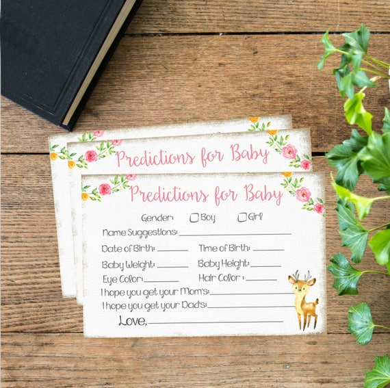 Predictions for Baby Card( Instant Download) Printable