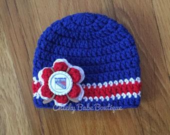 Crochet hockey hat