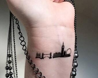 London skyline temporary tattoos