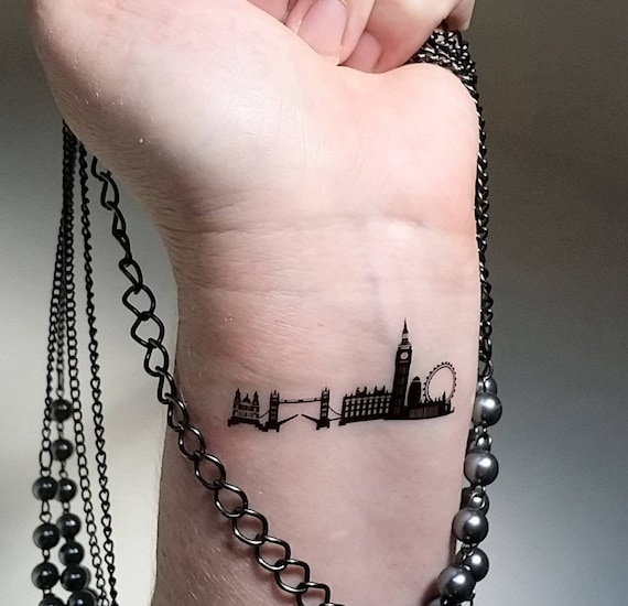 London skyline temporary tattoos for Henna tattoo nyc
