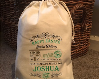 Easter gift bags etsy personalised happy easter gift bags various sizes joshua design negle Choice Image