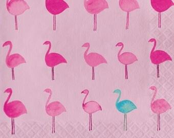 Flamingo lunch Napkins / Flamingo theme