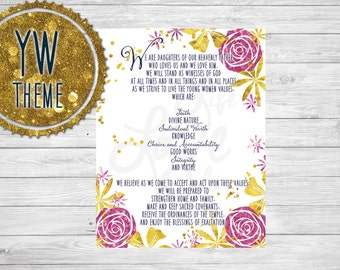 Young Women Theme LDS