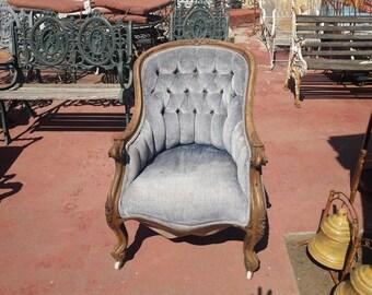 VICTORIAN Roseback Slipper Chair for upholstery