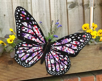 Metal Butterfly, Outdoor Decor, Shades of Purple, Garden Gift, Butterfly Art