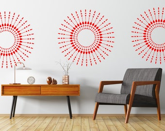 Mandala Wall Stencil, Wall Art Stencil  in reusable Mylar, wall art, small to large stencils up to 19.5 x 27.5 inches.