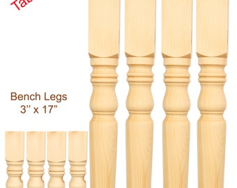 2 Sets of Hand made table legs and Bench legs,wooden pine- dining room pine table legs