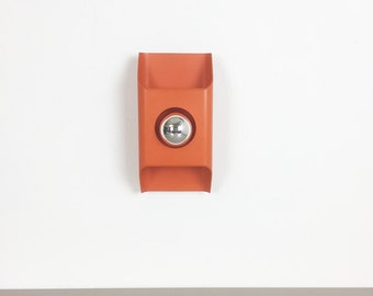 70s orange KAISER LEUCHTEN Wall light plafoniere wandlampe Leuchte | made in germany |  danish modern | midcentury modern | eames panton