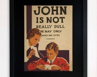 "LARGE 20""x16"" FRAMED Advertising Print, Black or White Frame/Mount, Vintage Poster"