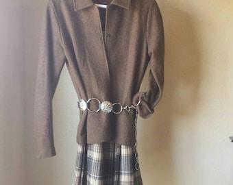 Vintage Orvis chocolate brown wool jacket coat blazer women's jacket made in USA vintage fashion style