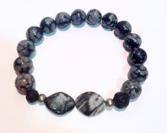 Nevada Obsidian bracelet