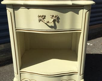 Vintage single french nightstand