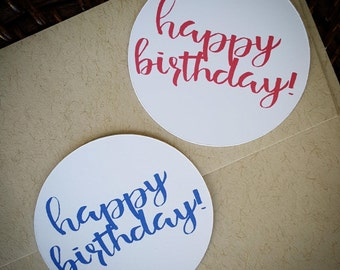 Happy Birthday Stickers, Happy Birthday Seals, Happy Birthday Supply, Birthday Party, Envelope Seals, Envelope Stickers, Candy Bag Stickers