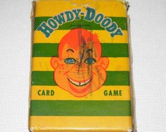 Vintage Howdy Doody Card Game, 1950 Era