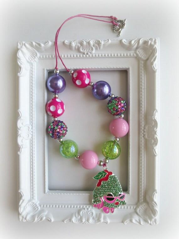Shopkins Posh Pear Bubblegum Necklace