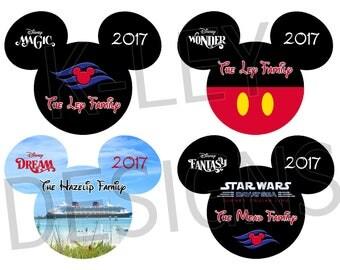 Disney Cruise Line - Mickey Family Name Door Magnet