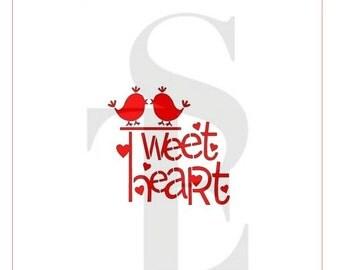Tweet Heart Stencil