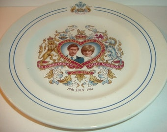Midwinter Staffordshire Charles and Diana Royal Wedding Souvenir Plate