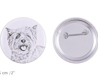 Buttons with a dog - Cairn Terrier