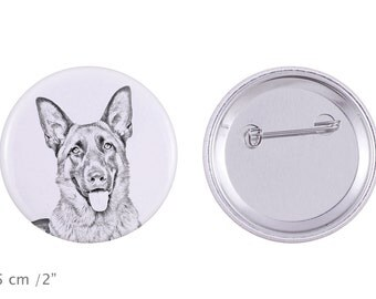 Buttons with a dog - German Shepherd